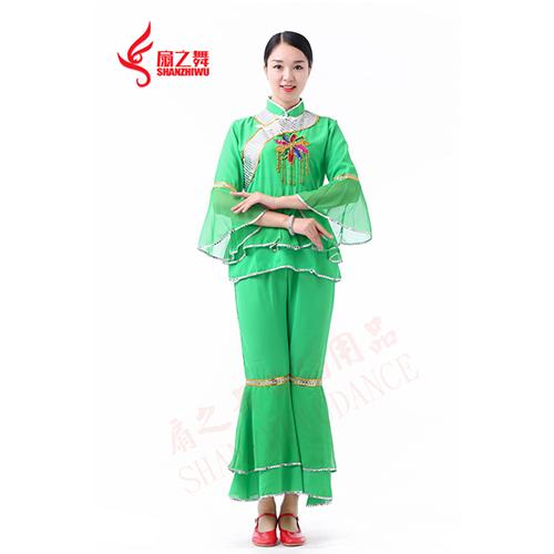七彩吊花秧歌服(绿)