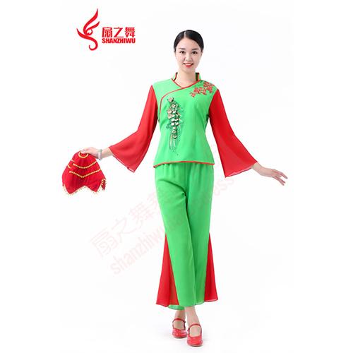 精品红绿秧歌服