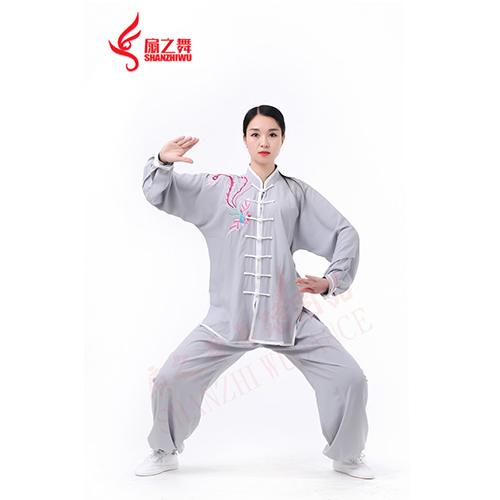 棉加丝秀凤太极服(灰)