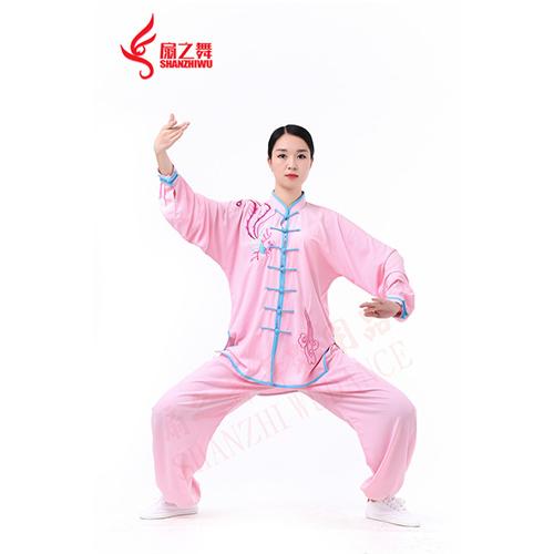 棉加丝秀凤太极服(粉)