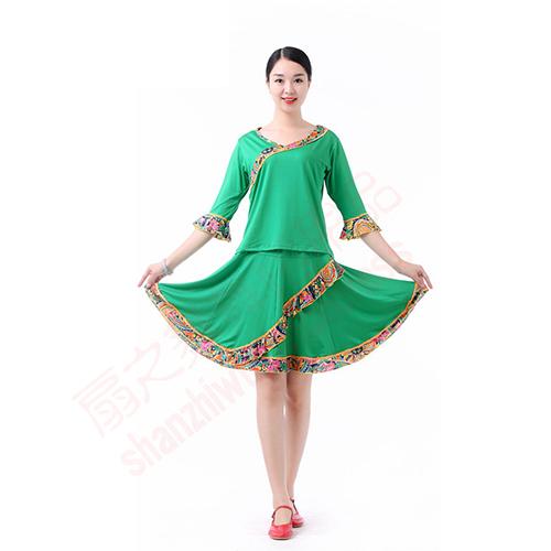 复古裙套装(绿)