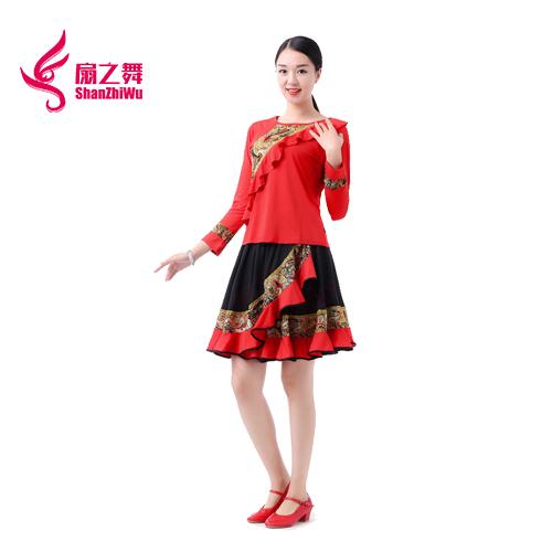新款复古裙套装(红)