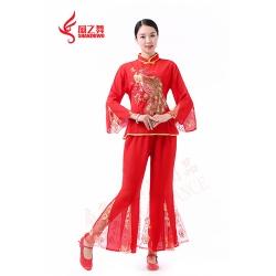 金色凤凰秧歌服(红)