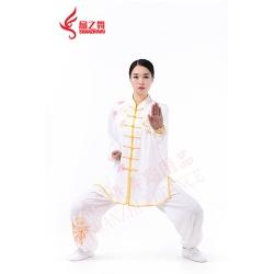 绣枫叶棉加丝太极服
