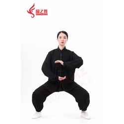 棉加丝太极服(黑)