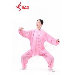 棉加丝太极服(粉)