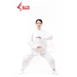 棉加丝太极服(白)