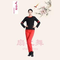 1709裤套装黑红